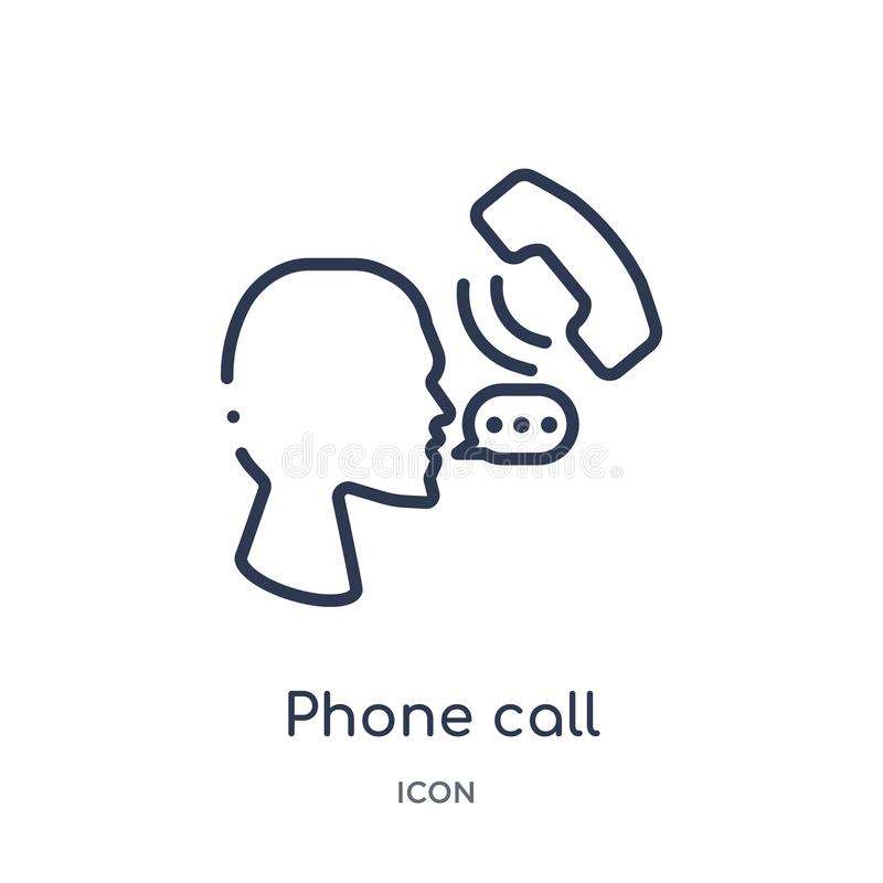 Linear phone call icon from Customer service outline collection. Thin line phone call vector isolated on white background. phone vector illustration