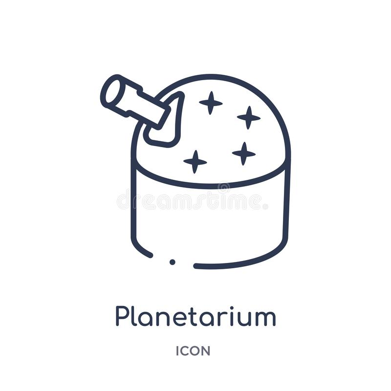 Linear planetarium icon from Astronomy outline collection. Thin line planetarium vector isolated on white background. planetarium. Trendy illustration vector illustration