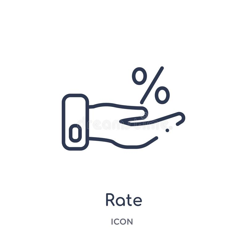 Linear rate icon from Customer service outline collection. Thin line rate vector isolated on white background. rate trendy stock illustration