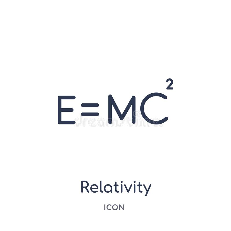 Linear relativity icon from Astronomy outline collection. Thin line relativity vector isolated on white background. relativity stock illustration