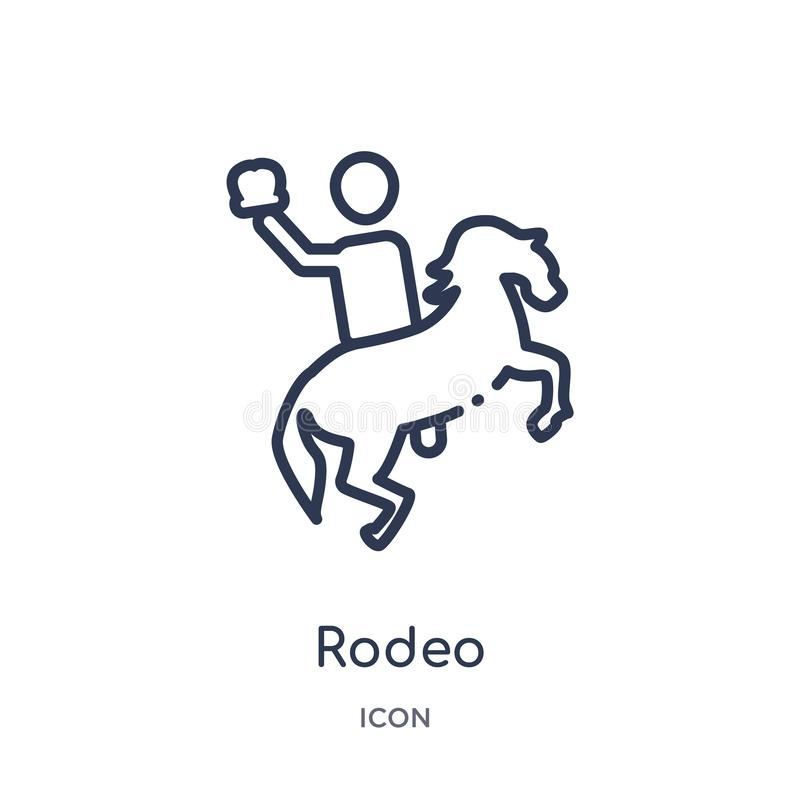 Linear rodeo icon from Circus outline collection. Thin line rodeo vector isolated on white background. rodeo trendy illustration vector illustration