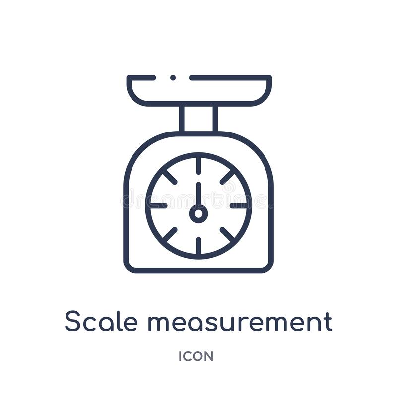 Linear scale measurement icon from Measurement outline collection. Thin line scale measurement icon isolated on white background. vector illustration