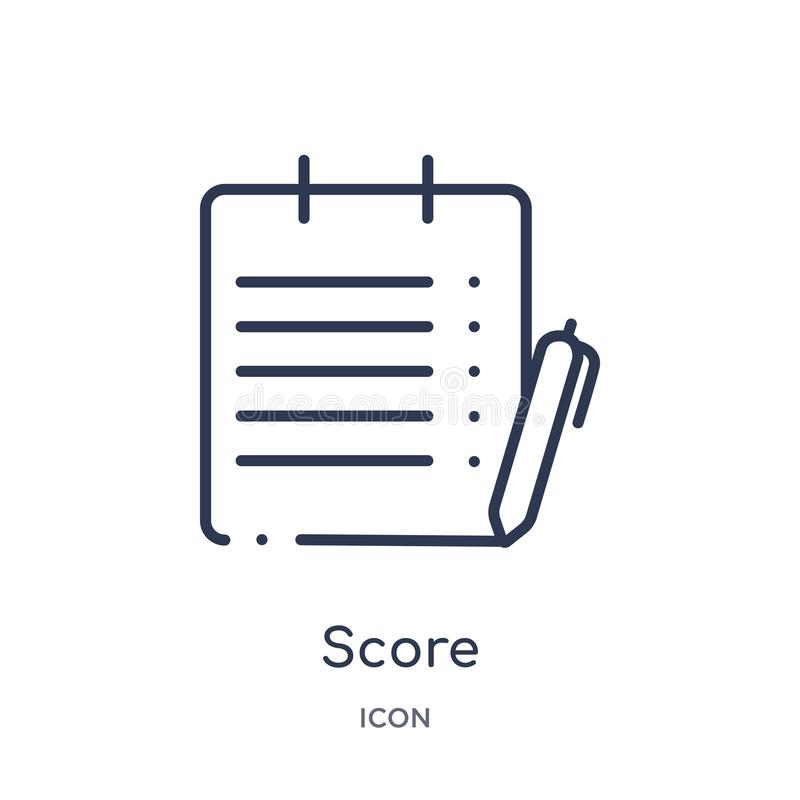 Linear score icon from American football outline collection. Thin line score vector isolated on white background. score trendy royalty free illustration