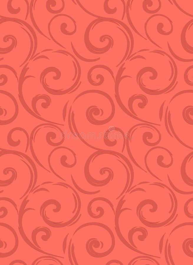 Linear seamless pattern. Stylish decor with elegant lines and curls. Decorative ornamental lattice. Abstract seamless geometric pa stock illustration