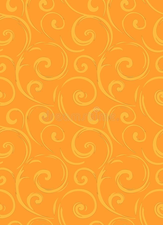 Linear seamless pattern. Stylish decor with elegant lines and curls. Decorative ornamental lattice. Abstract seamless geometric pa vector illustration