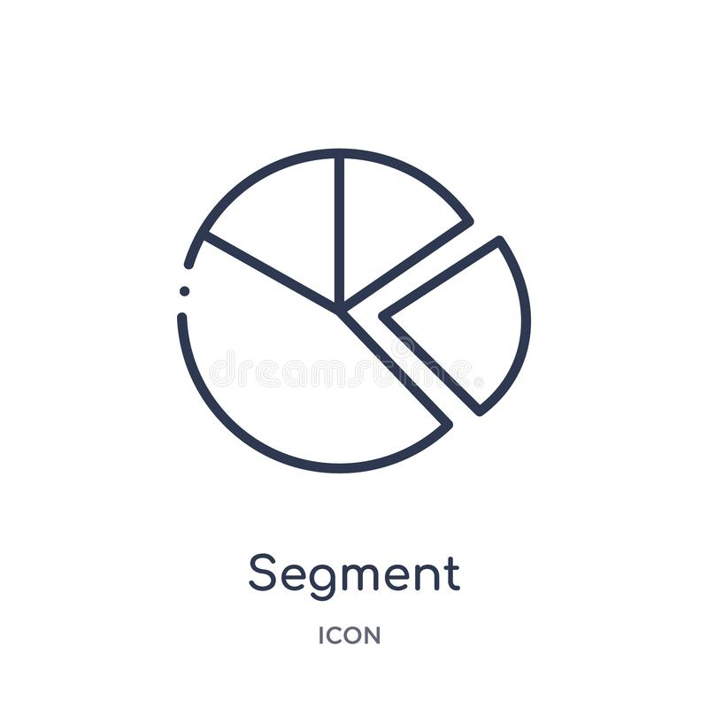 Free Linear Segment Icon From Geometry Outline Collection. Thin Line Segment Icon Isolated On White Background. Segment Trendy Royalty Free Stock Photo - 140058665