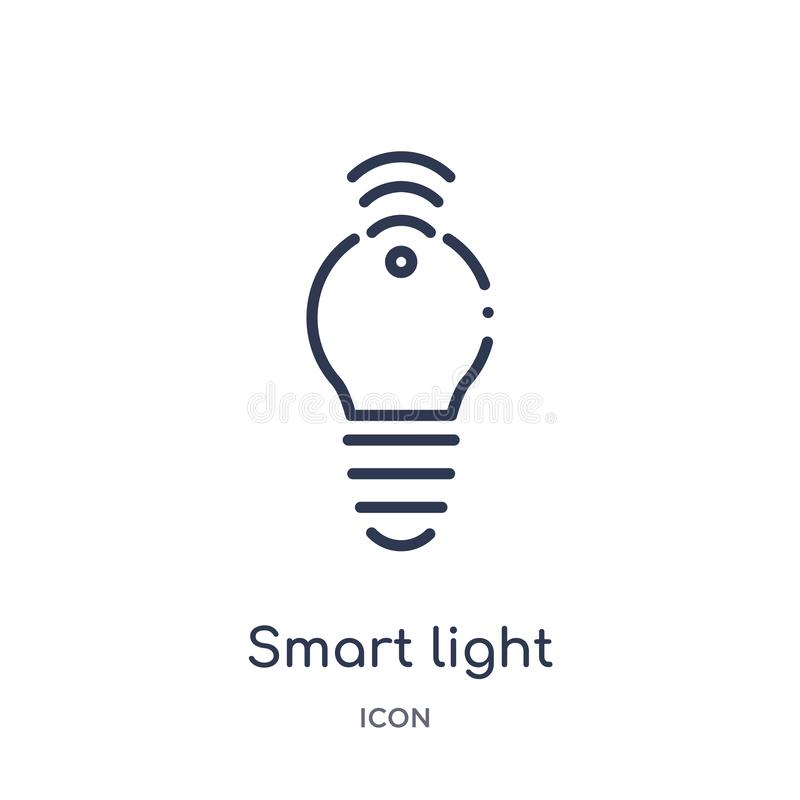 Linear smart light icon from Electronic devices outline collection. Thin line smart light vector isolated on white background. royalty free illustration