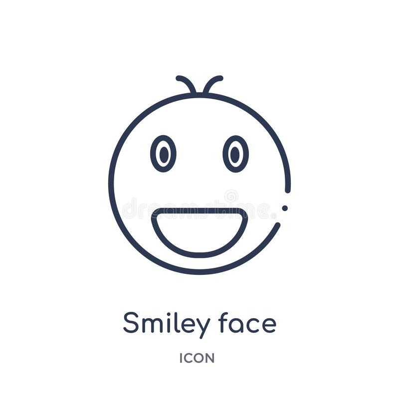 Linear smiley face icon from Charity outline collection. Thin line smiley face vector isolated on white background. smiley face. Trendy illustration vector illustration