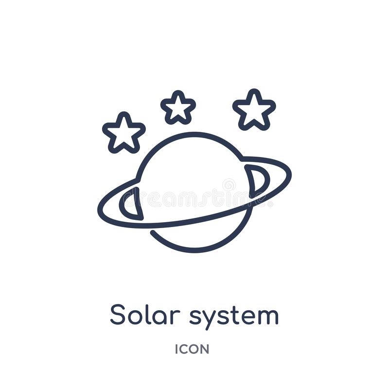 Linear solar system planets icon from General outline collection. Thin line solar system planets icon isolated on white background vector illustration