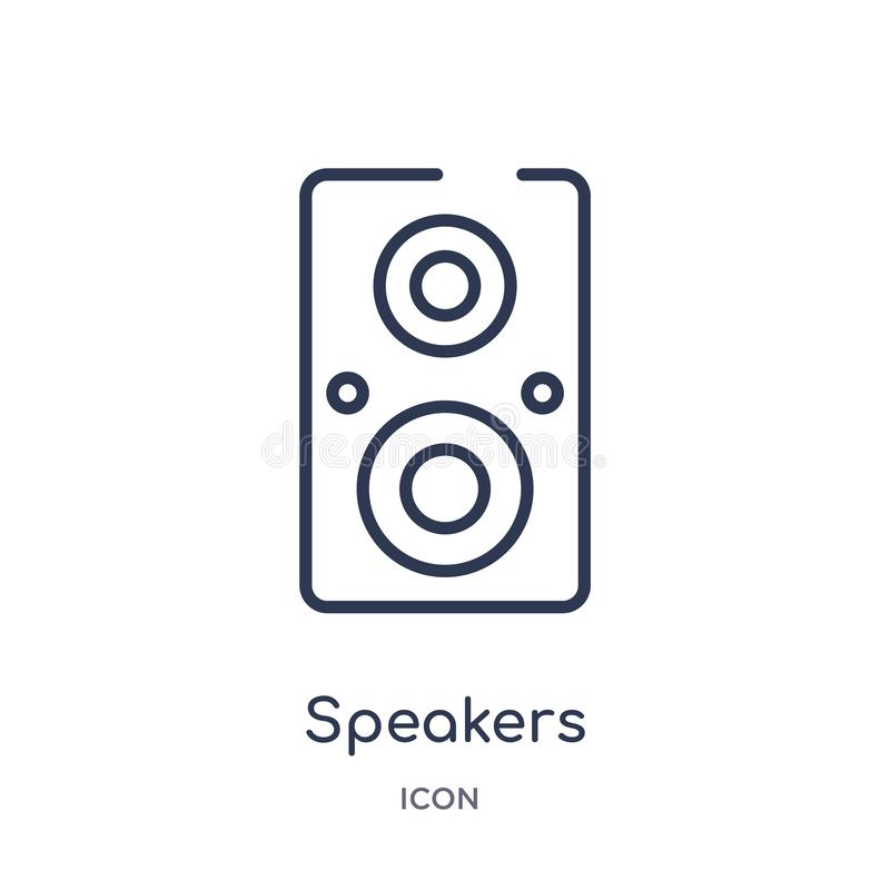 Linear speakers icon from Electronic devices outline collection. Thin line speakers vector isolated on white background. speakers stock illustration