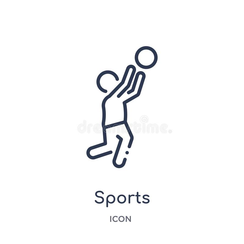 Linear sports icon from Free time outline collection. Thin line sports vector isolated on white background. sports trendy stock illustration