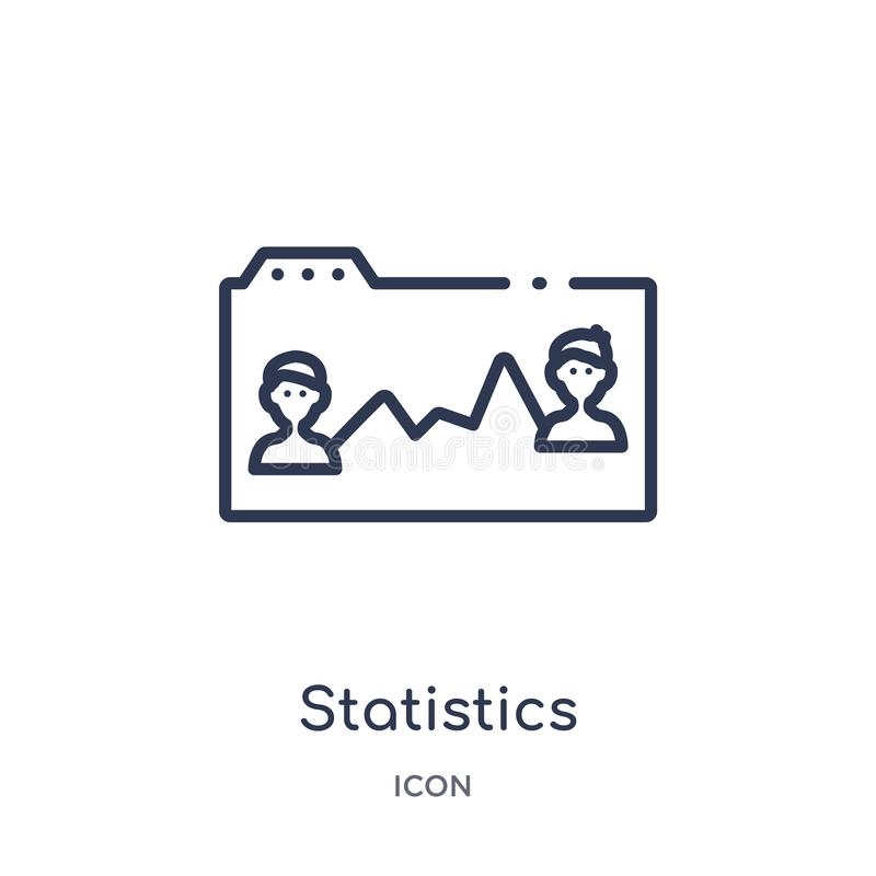 Linear statistics icon from Blogger and influencer outline collection. Thin line statistics vector isolated on white background. stock illustration