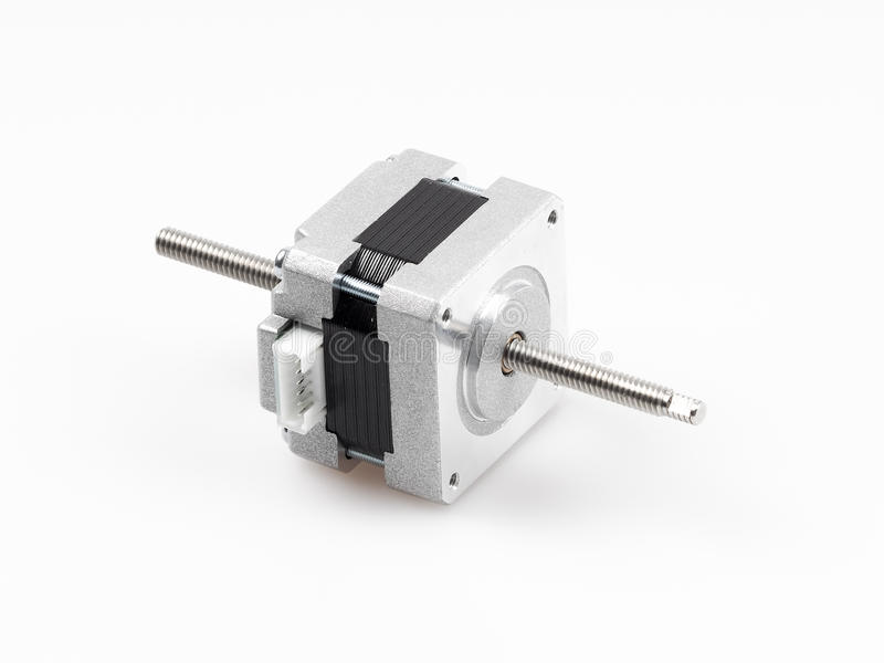 Linear stepper motor actuator. A linear stepper motor actuator creates translational motion with the simple operation of a stepper motor resulting in a cost stock photo