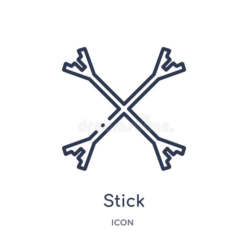 Linear stick icon from Circus outline collection. Thin line stick vector isolated on white background. stick trendy illustration stock illustration