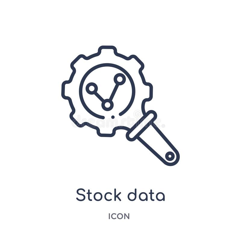 Linear stock data analysis icon from Business and analytics outline collection. Thin line stock data analysis vector isolated on stock illustration