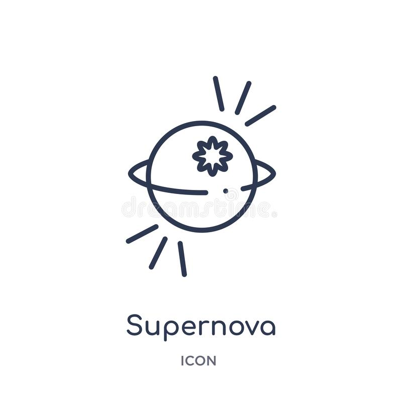 Linear supernova icon from Astronomy outline collection. Thin line supernova vector isolated on white background. supernova trendy stock illustration