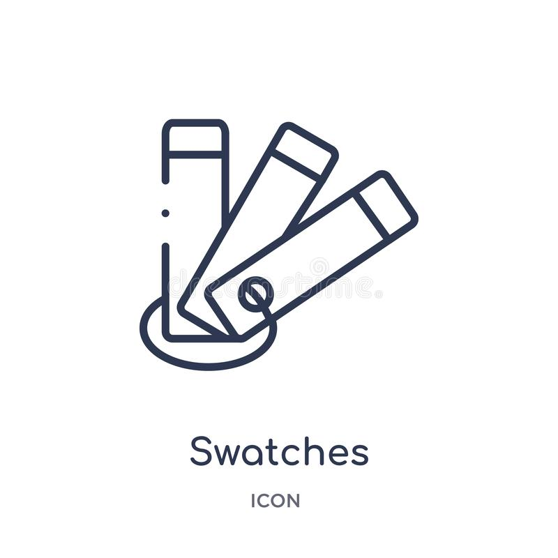 Linear swatches icon from Art outline collection. Thin line swatches icon isolated on white background. swatches trendy royalty free illustration