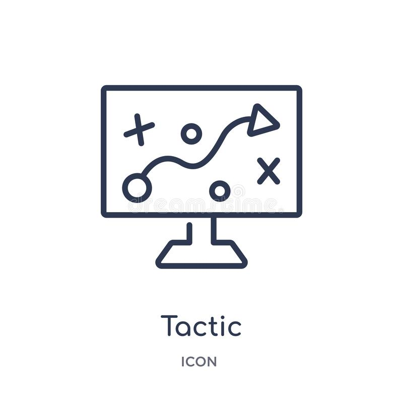 Linear tactic icon from Business outline collection. Thin line tactic icon isolated on white background. tactic trendy vector illustration