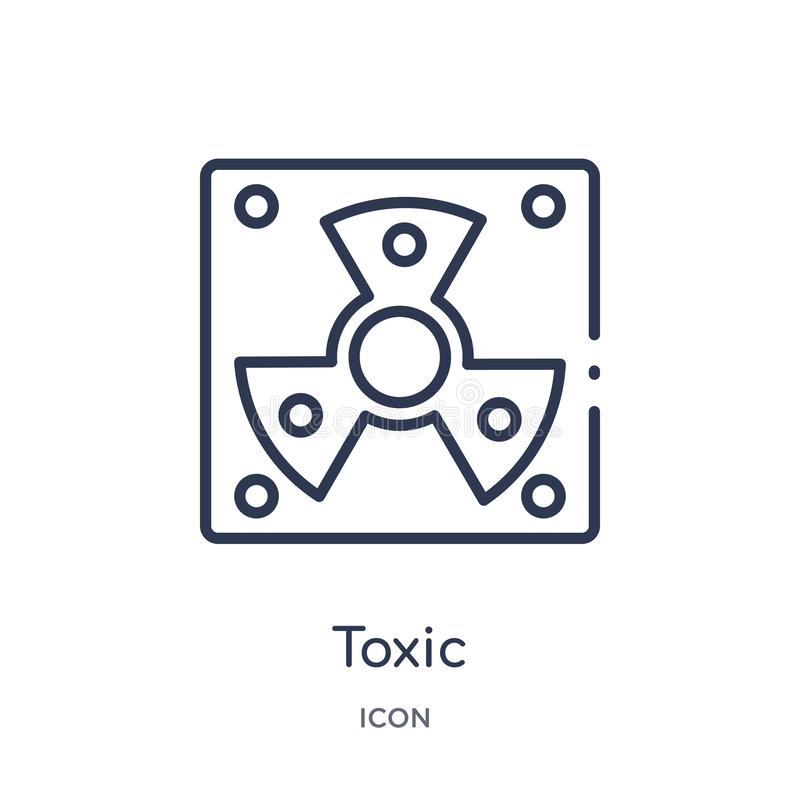 Linear toxic icon from Army outline collection. Thin line toxic vector isolated on white background. toxic trendy illustration stock illustration