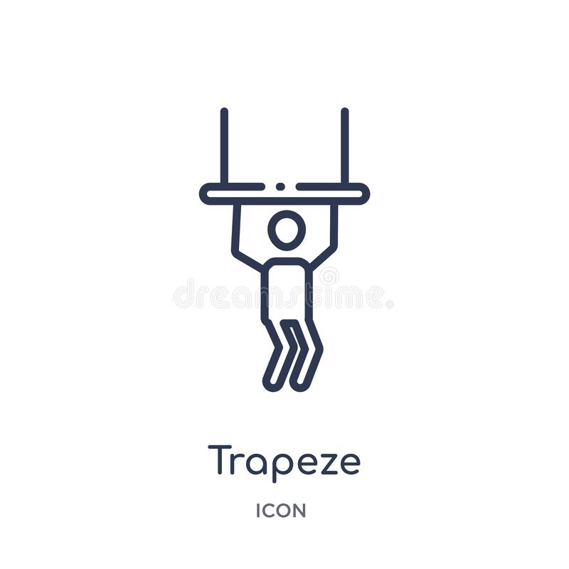 Linear trapeze icon from Circus outline collection. Thin line trapeze vector isolated on white background. trapeze trendy vector illustration