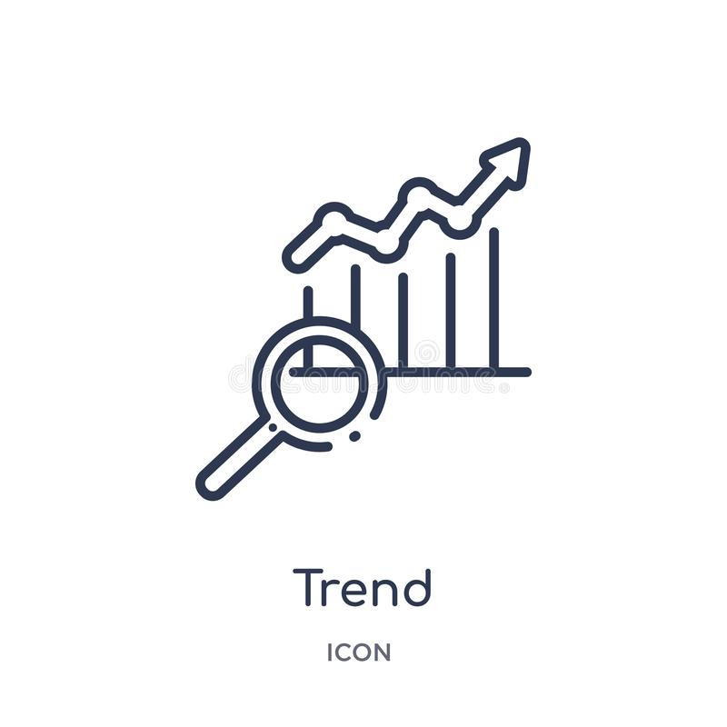 Linear trend icon from Marketing outline collection. Thin line trend icon isolated on white background. trend trendy illustration vector illustration