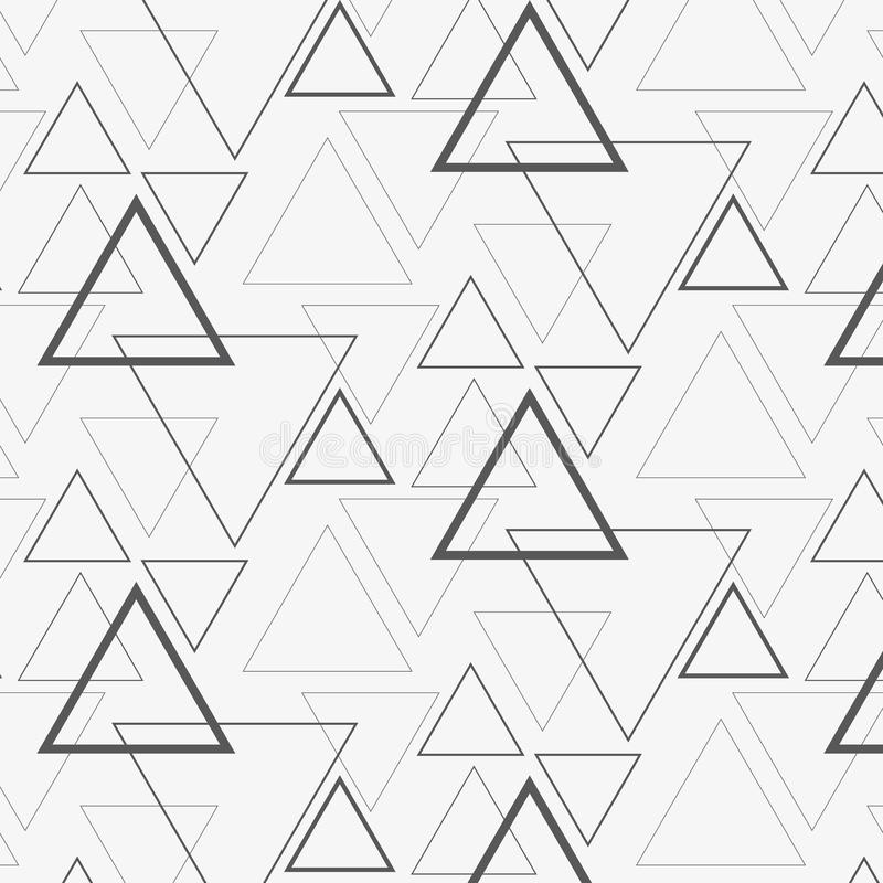 Linear triangle vector pattern. stock illustration