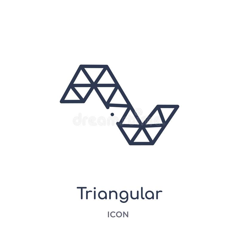 Linear triangular shapes forming waves icon from Geometry outline collection. Thin line triangular shapes forming waves icon. Icon royalty free illustration
