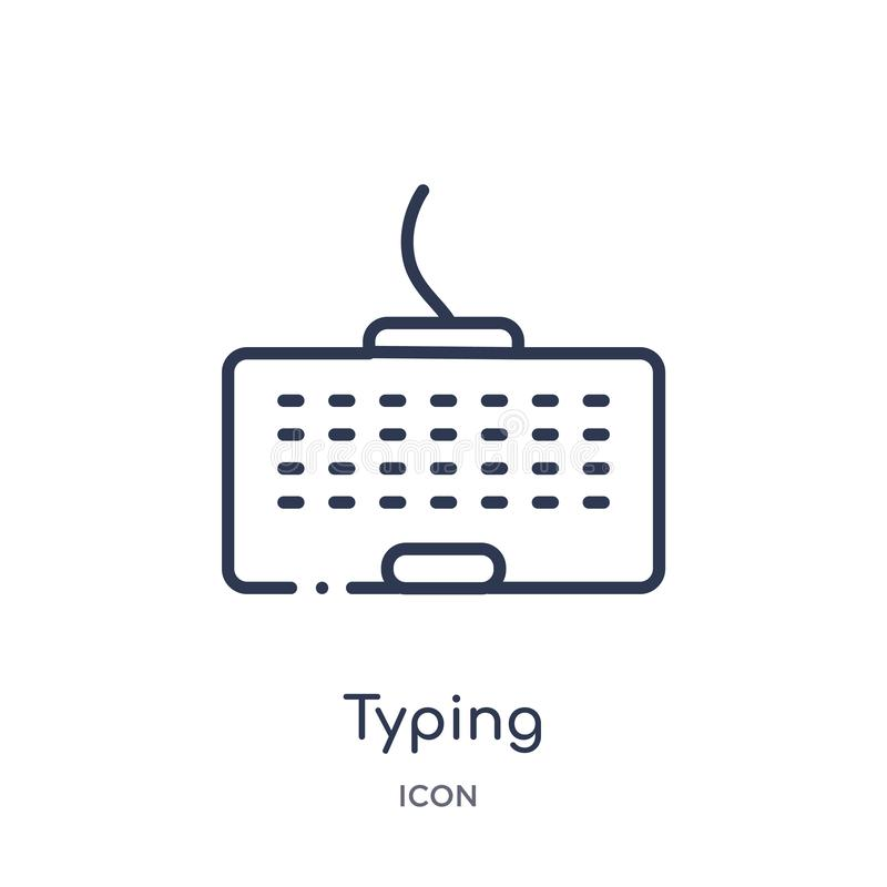 Linear typing icon from Cursor outline collection. Thin line typing vector isolated on white background. typing trendy stock illustration