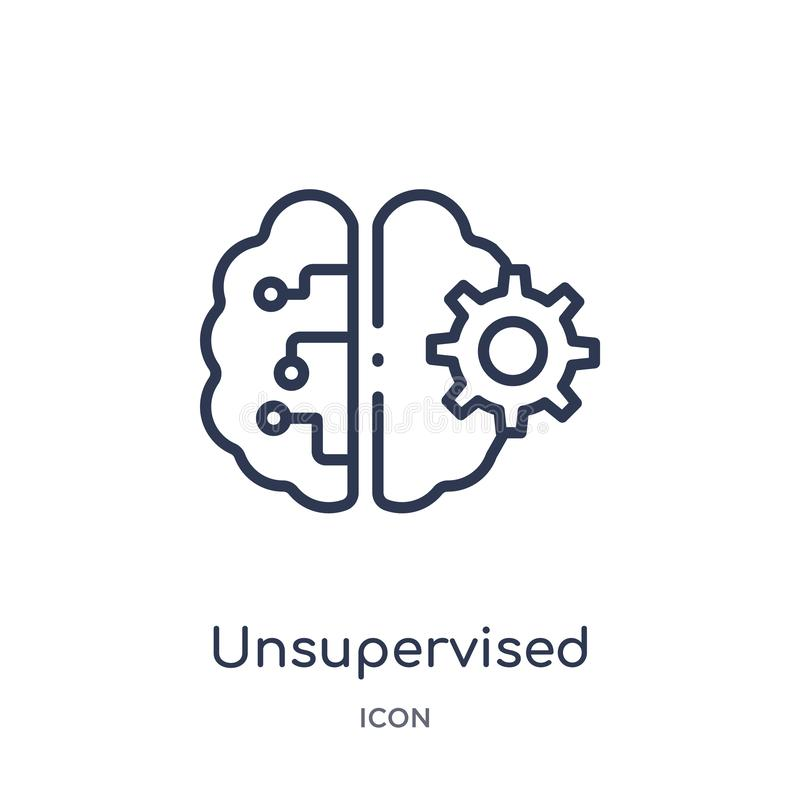 Linear unsupervised learning icon from Artificial intellegence and future technology outline collection. Thin line unsupervised vector illustration