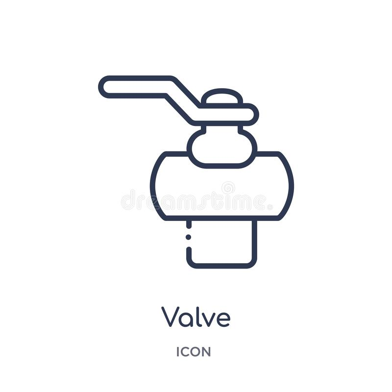 Linear valve icon from Industry outline collection. Thin line valve icon isolated on white background. valve trendy illustration royalty free illustration