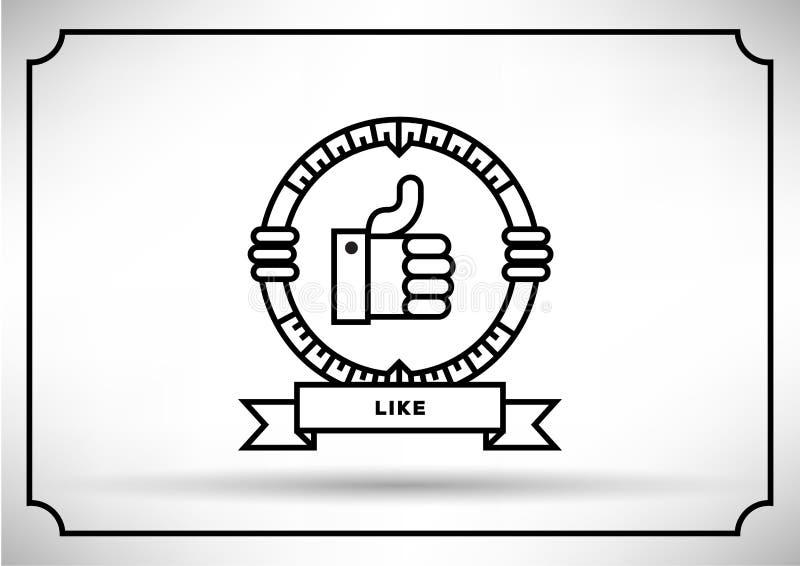 Linear Vector of Like Icon Design stock illustration