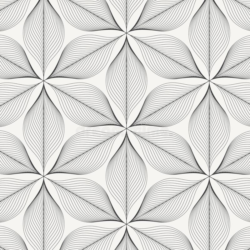 Linear vector pattern, repeating abstract leaves, gray line of leaf or flower, floral. graphic clean design for fabric, event. Wallpaper etc. pattern is on vector illustration