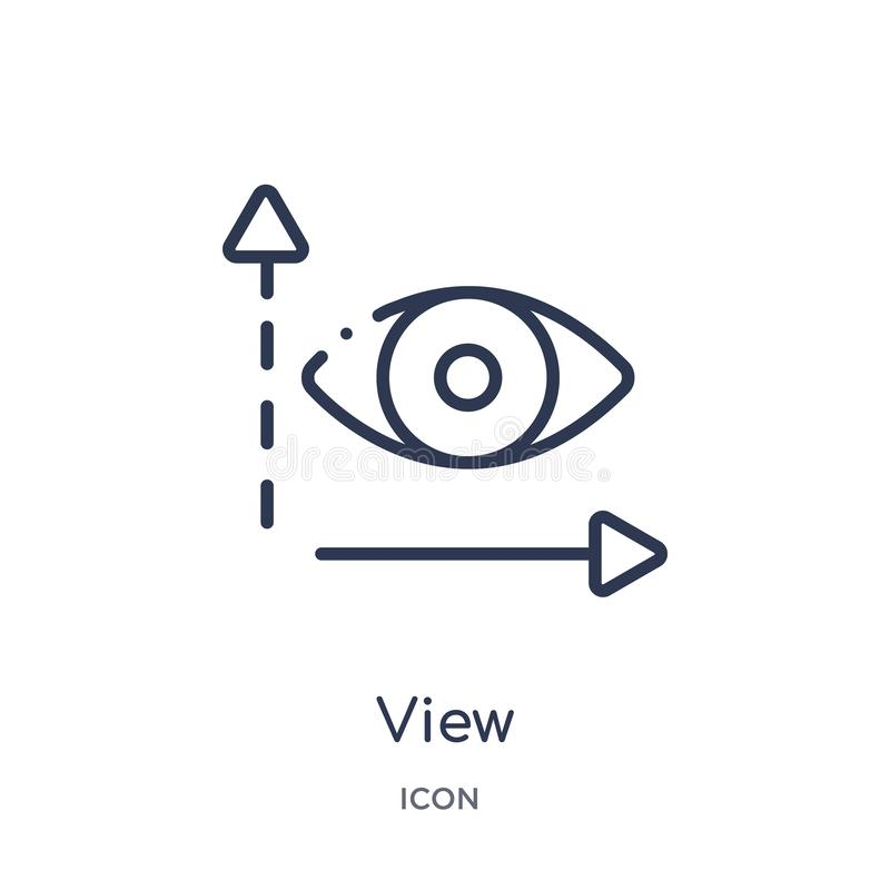 Linear view icon from Artifical intelligence outline collection. Thin line view vector isolated on white background. view trendy royalty free illustration