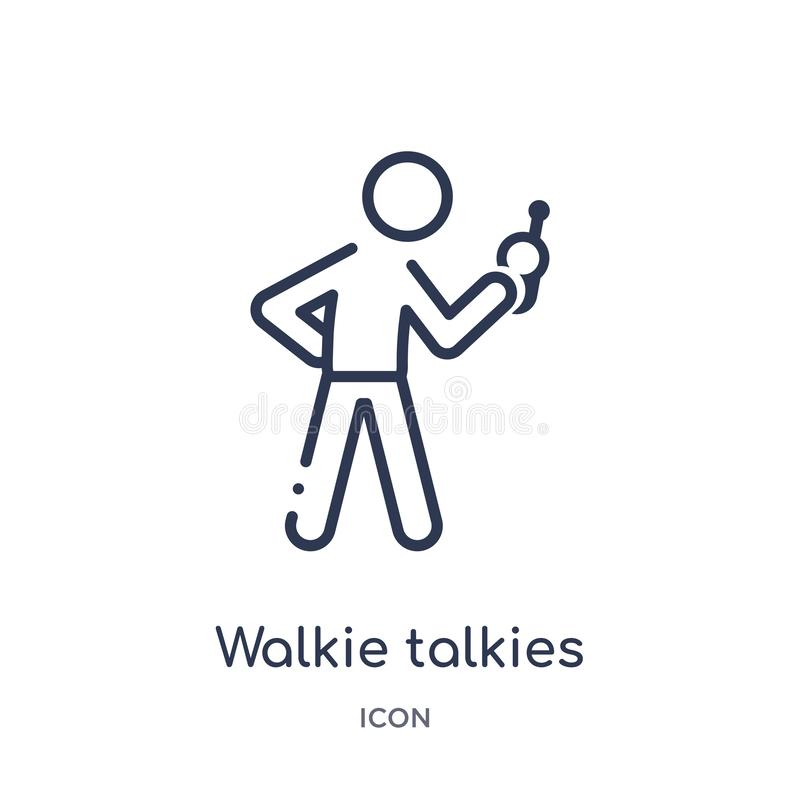 Free Linear Walkie Talkies Icon From Activity And Hobbies Outline Collection. Thin Line Walkie Talkies Vector Isolated On White Royalty Free Stock Images - 140045779