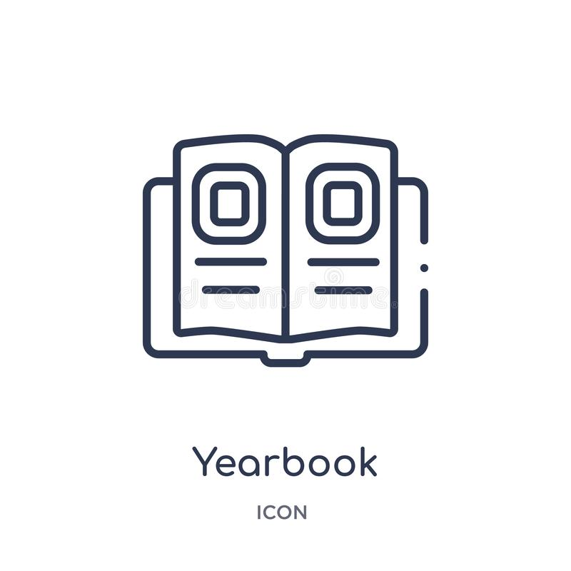 Linear yearbook icon from General outline collection. Thin line yearbook icon isolated on white background. yearbook trendy vector illustration