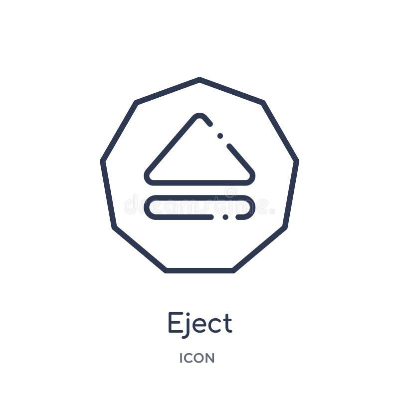 Lineare espella l'icona dalla raccolta del profilo dell'interfaccia La linea sottile espelle l'icona isolata su fondo bianco espe illustrazione vettoriale