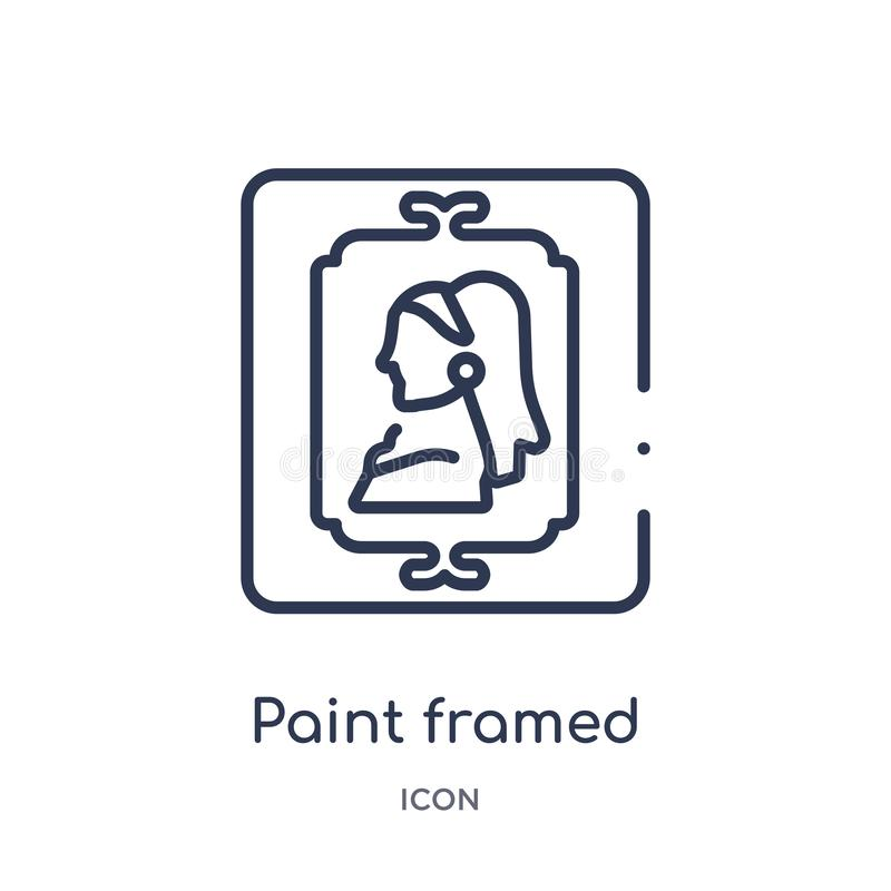 Lineare Farbe gestaltete Ikone von der Kunst- und Entwurfsentwurfssammlung Dünne Linie Farbe gestaltete die Ikone, die auf weißem stock abbildung