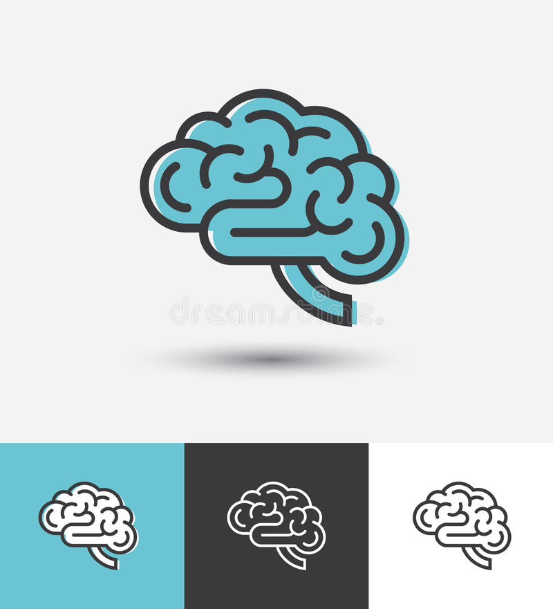 Lineare Gehirnikone lizenzfreie abbildung
