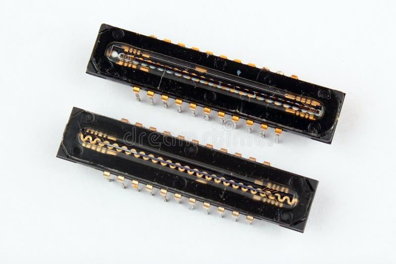 Lineare ha fatto pagare il CCD dei dispositivi coppia, chip del sensore dell'analizzatore per scansione immagini stock libere da diritti