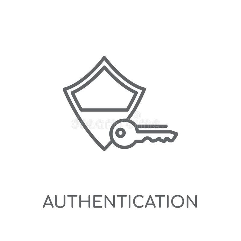 Lineare Ikone der Authentisierung Modernes Entwurf Authentisierungslogo c stock abbildung