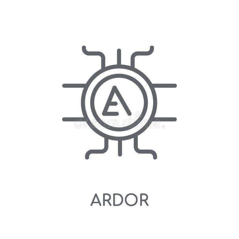 Lineare Ikone der Begeisterung Modernes Entwurf Begeisterungs-Logokonzept auf weißem Ba vektor abbildung