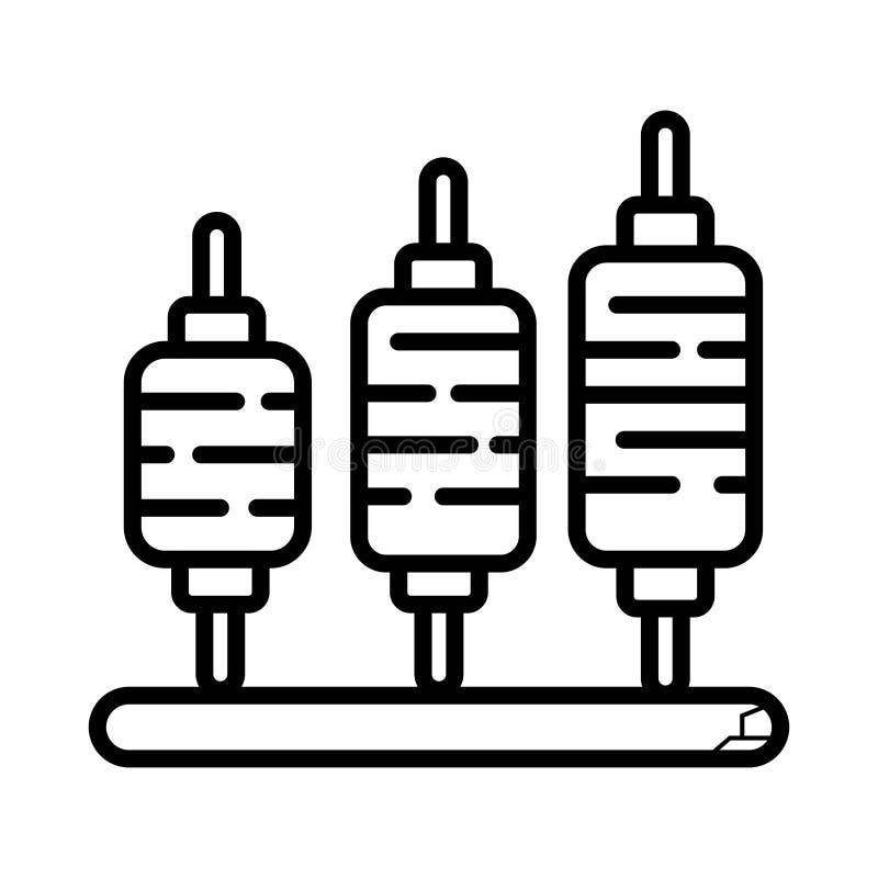 Lineare Ikone der Fadenspule lizenzfreie abbildung