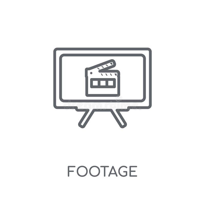 lineare Ikone der Gesamtlänge Modernes Entwurfsgesamtlängen-Logokonzept auf Whit lizenzfreie abbildung