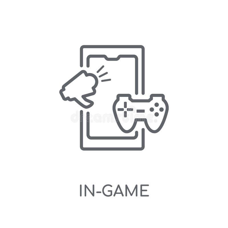 lineare Ikone der Inspielwerbung Moderne Entwurfsinspiel advertis lizenzfreie abbildung
