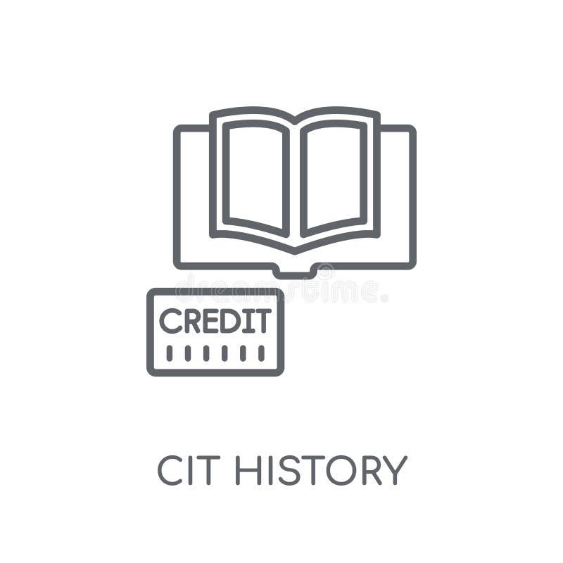 lineare Ikone der Kreditgeschichte Modernes Entwurfskreditgeschichtelogo c stock abbildung
