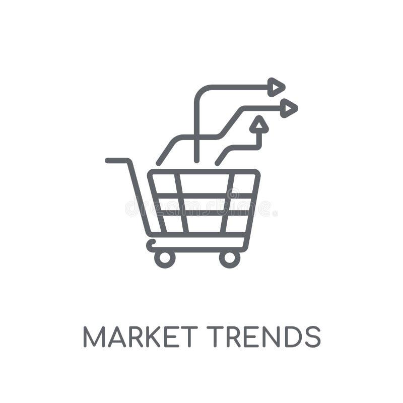 lineare Ikone der Markttendenzen Moderner Entwurfsmarkttendenz-Logobetrug stock abbildung