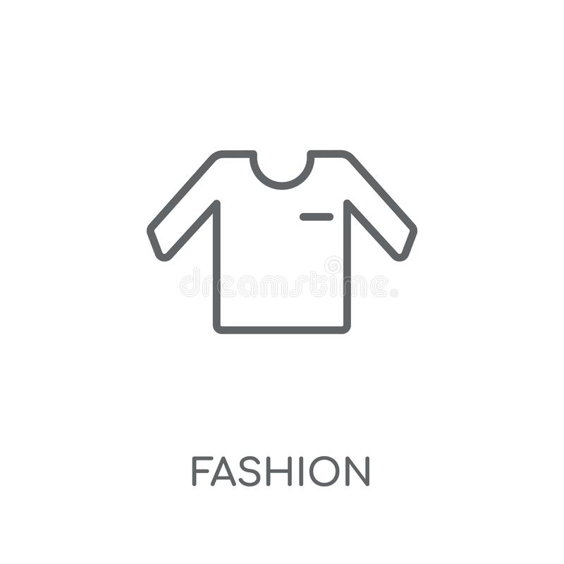 Lineare Ikone der Mode Modernes Entwurf Mode-Logokonzept auf Whit lizenzfreie abbildung