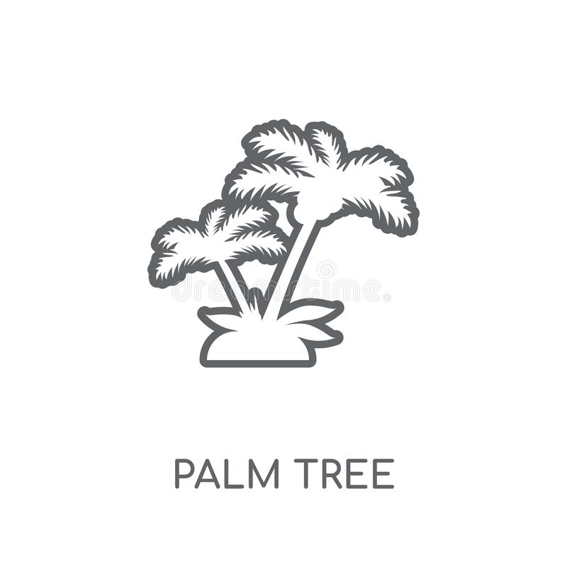 Lineare Ikone der Palme Modernes Entwurf Palme-Logokonzept an stock abbildung