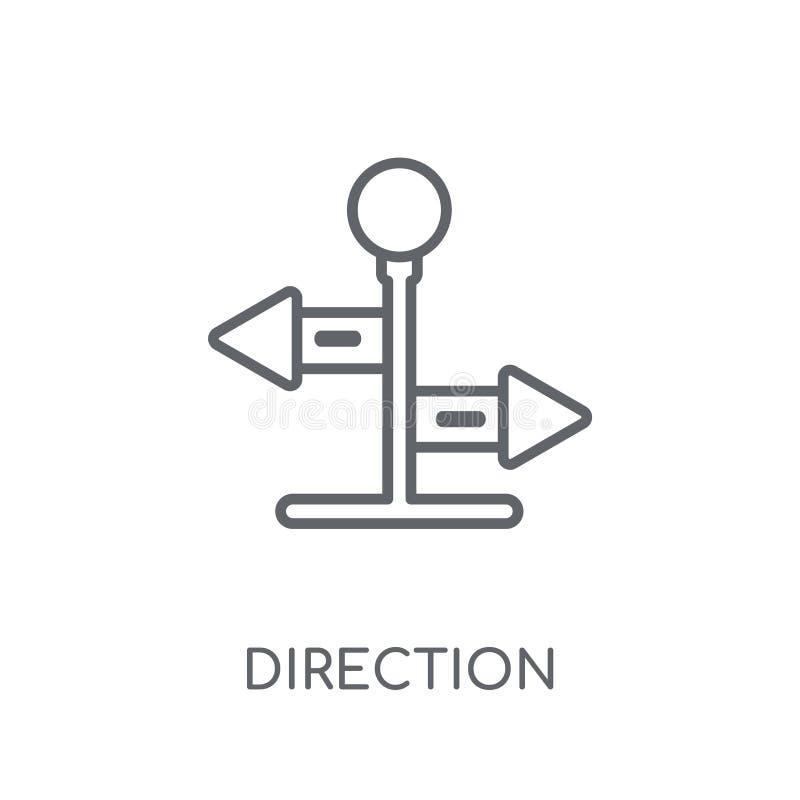 Lineare Ikone der Richtung Modernes Entwurf Richtungs-Logokonzept an lizenzfreie abbildung