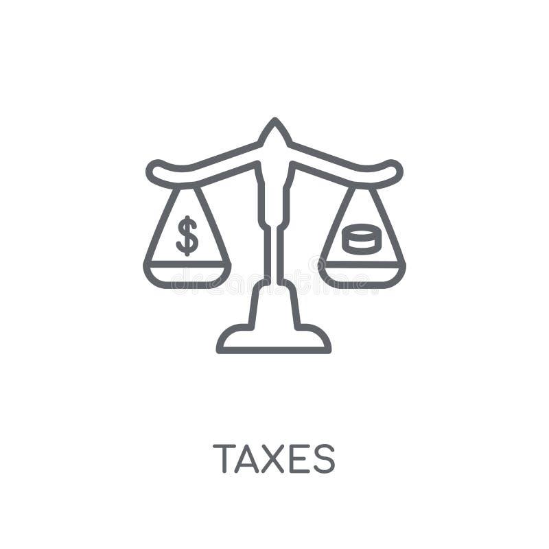 Lineare Ikone der Steuern Moderner Entwurf besteuert Logokonzept auf weißem Ba vektor abbildung